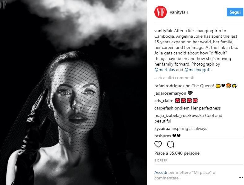 Angelina Jolie parla per la prima volta di Brad Pitt